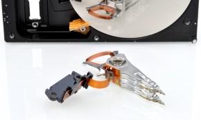 Замена блока магнитных головок жесткого диска