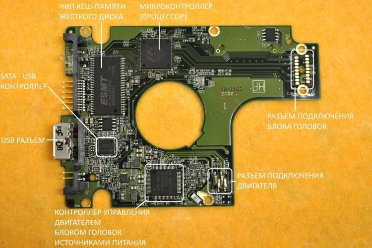 Плата электроники внешнего жесткого диска