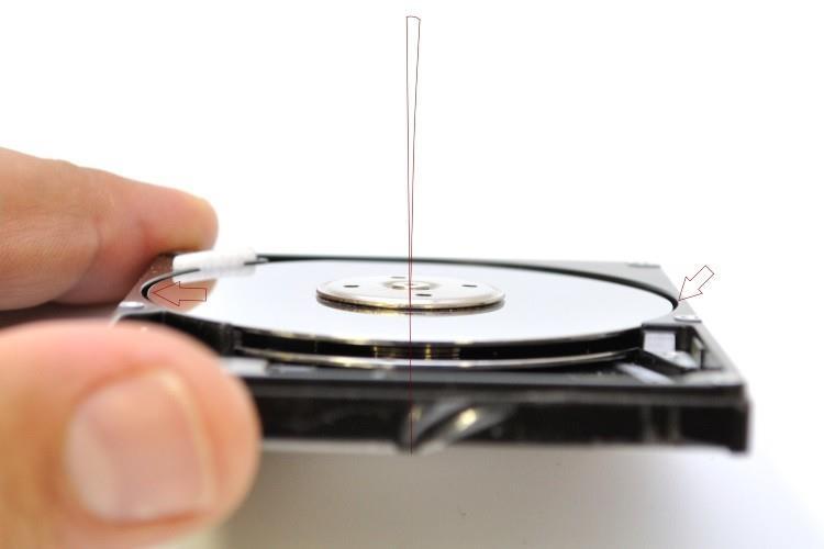 Восстановление данных с гнутого диска