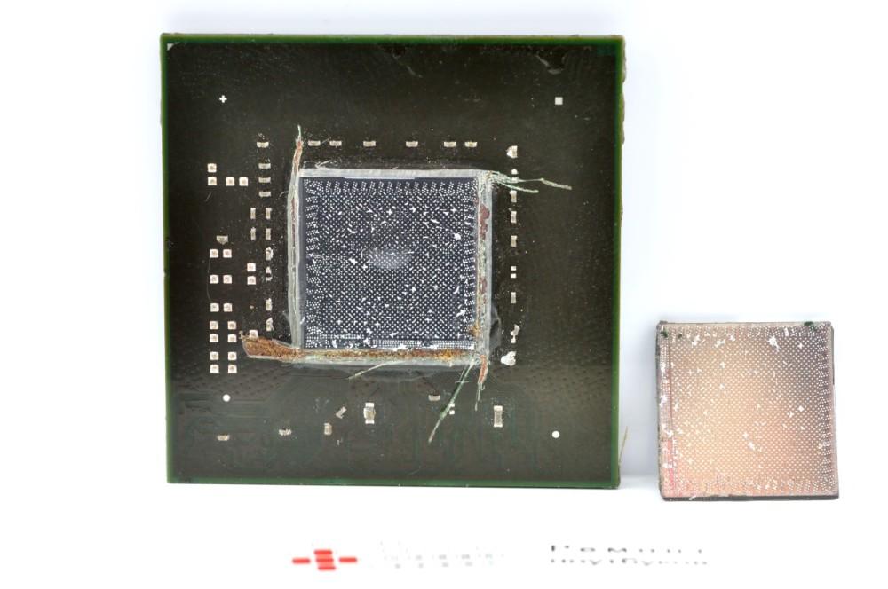 BGA чип со снятым кристаллом